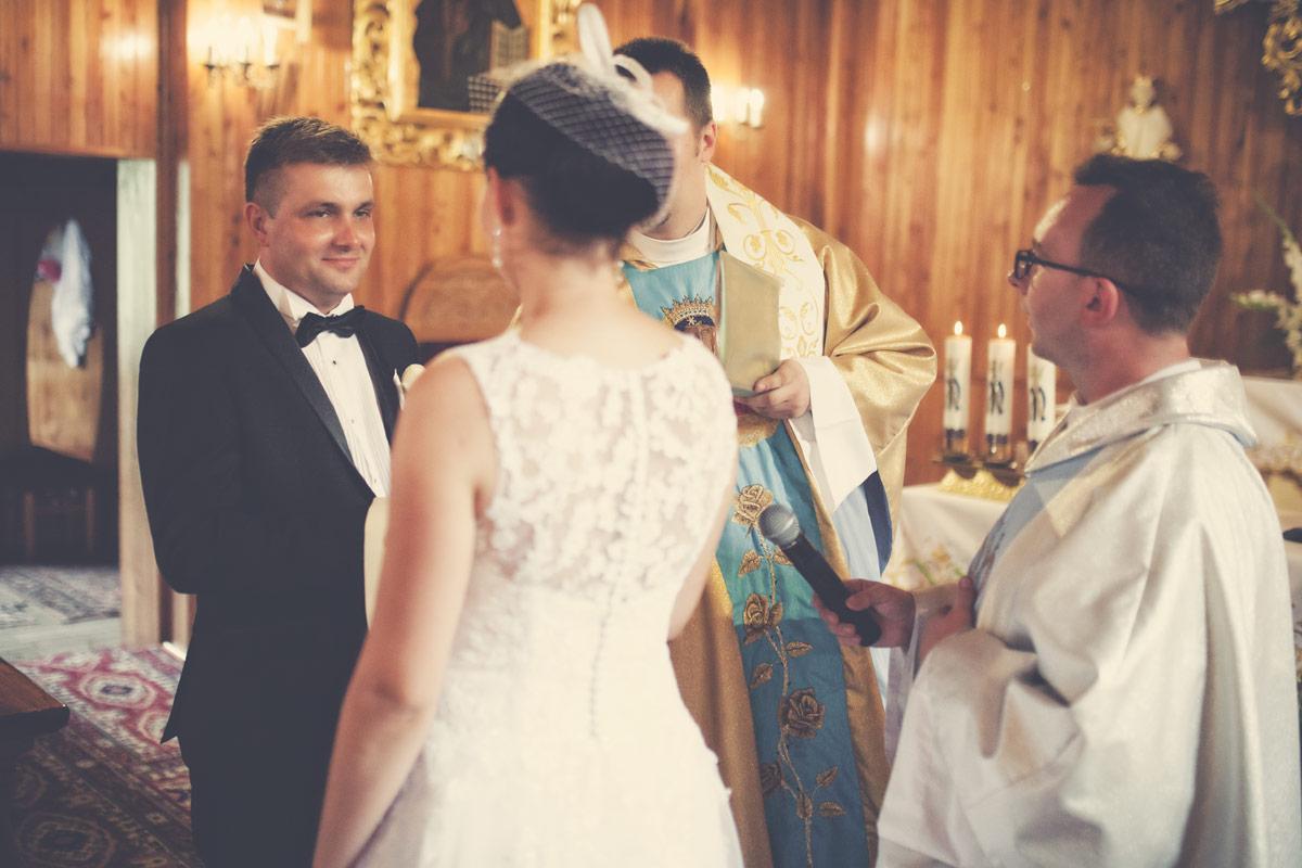 Wesele w Baranowskiej Chacie - przysięga małżeńska Młodego