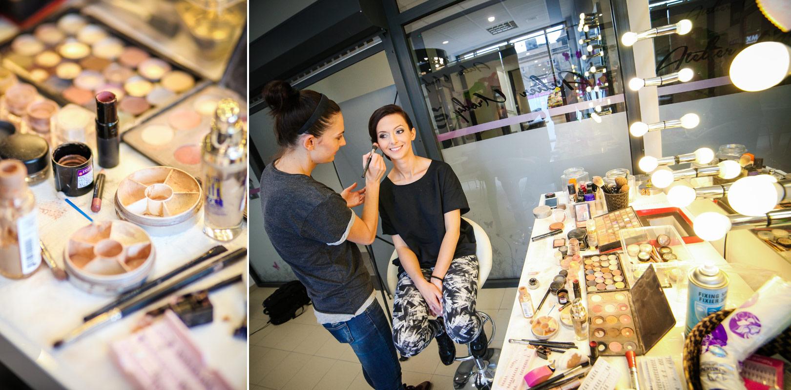 Fotograf Kępno - makijaż ślubny w salonie