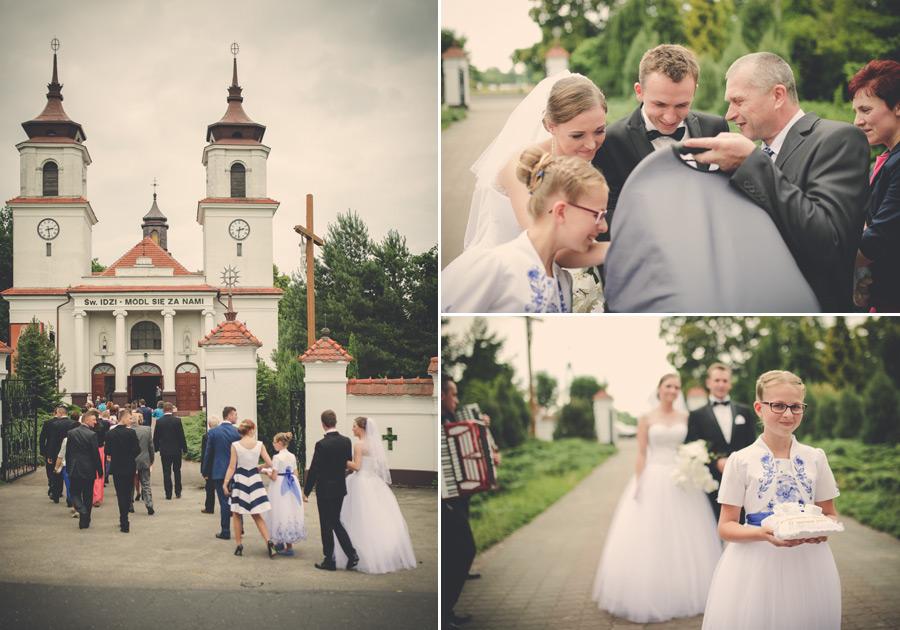 Fotografia ślubna Kępno - spacer do kościoła