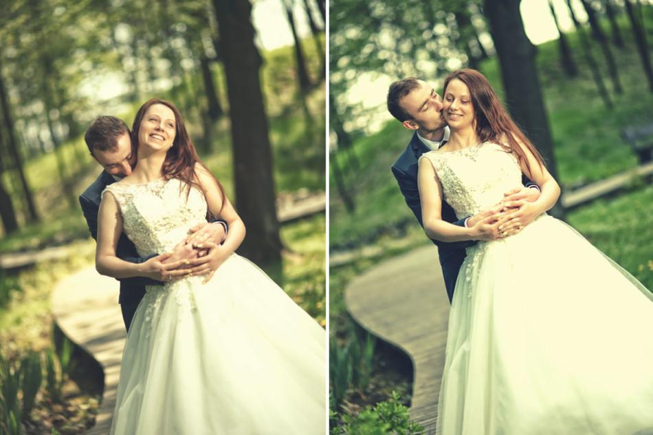 Fotograf ślubny Zdjęcie z rozmytym tłem