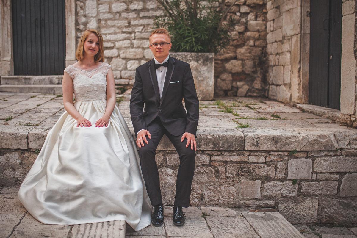Plener ślubny w Chorwacji - Para Młoda