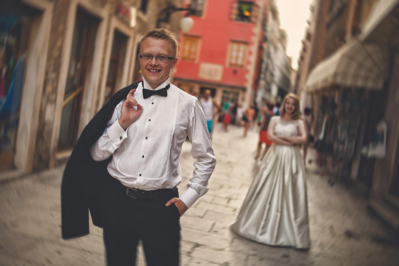 Plener ślubny w Chorwacji - starówka