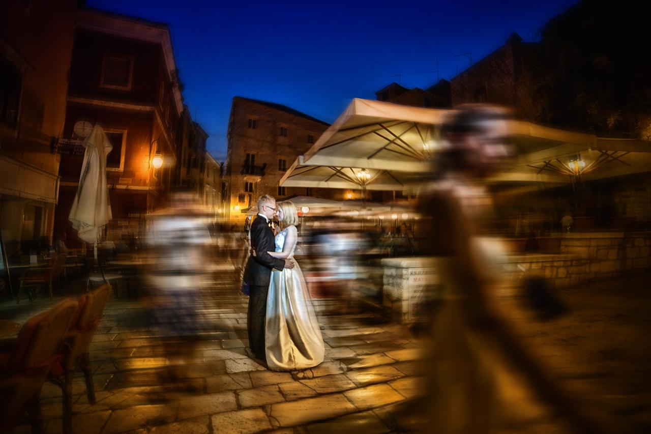 Plener ślubny w Chorwacji - zdjęcie nocą