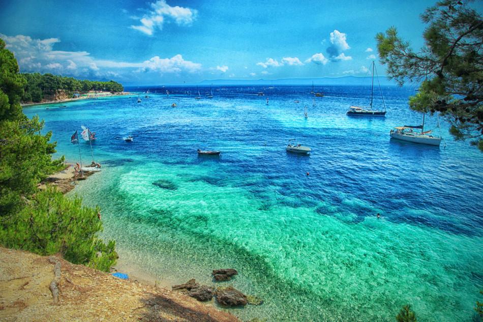 Wyspa Bol - plaża złoty róg