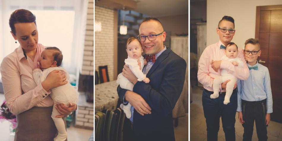 Zdjęcia z chrztu w domu rodzina na fotografiach