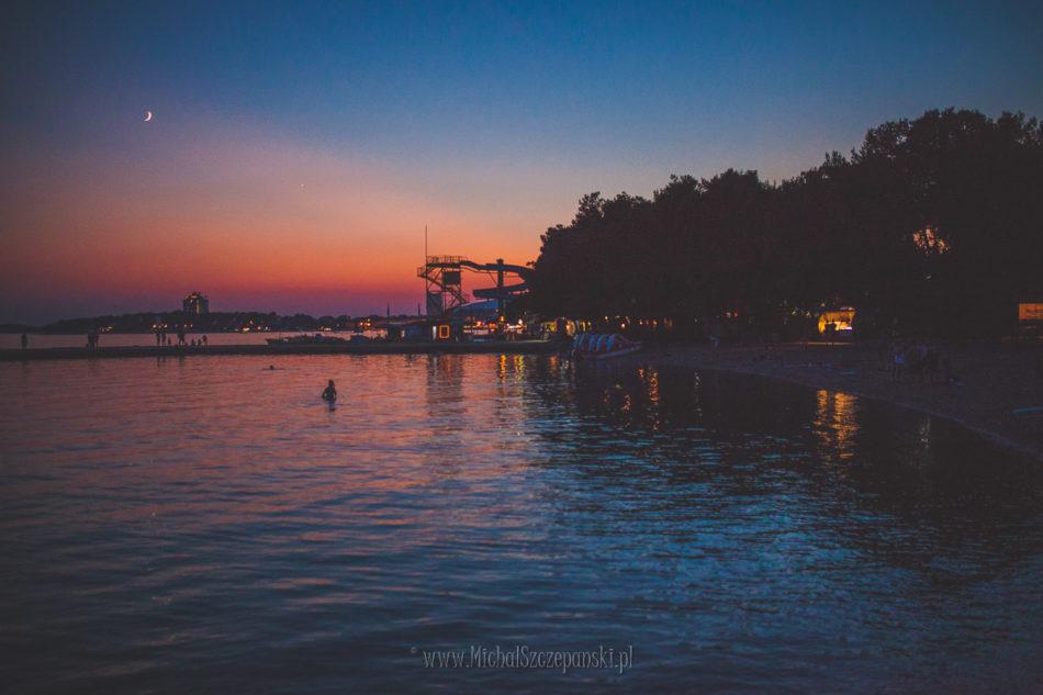 Wakacje w Chorwacji zachód słońca woda