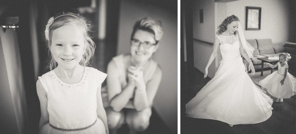 Przygotowania ślubne Pani Młodej w Pleszewie z rodziną