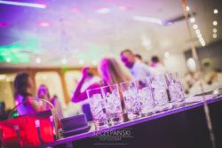 Detale ślubne weselny drink bar szklanki