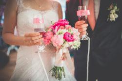 Detale ślubne szampan dla pary Młodej
