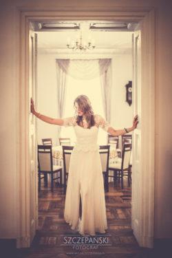Plener ślubny w Pałacu w Ziemiełowicach drzwi