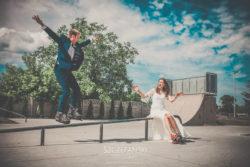 Plener ślubny w Wieruszowie. Skatepark.