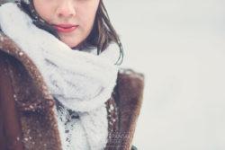 Śnieżny plener ślubny Karpacz