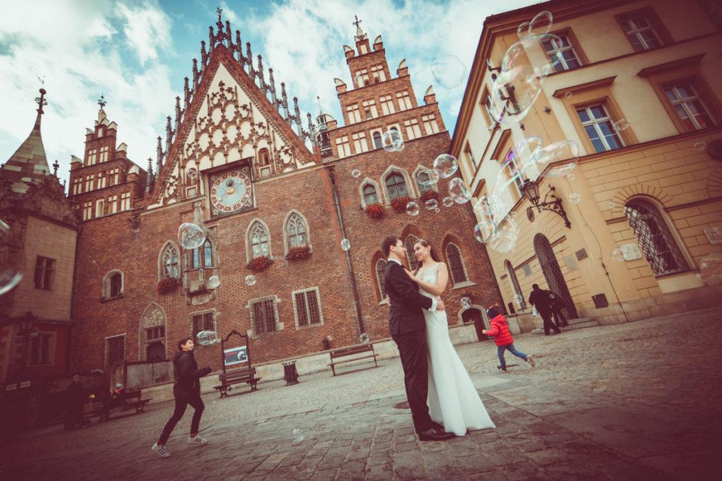 Plener ślubny rynek Wrocław