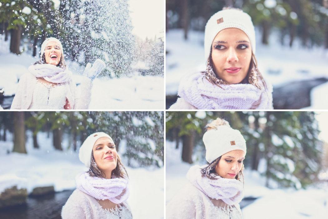 Plener ślubny w górach śnieg