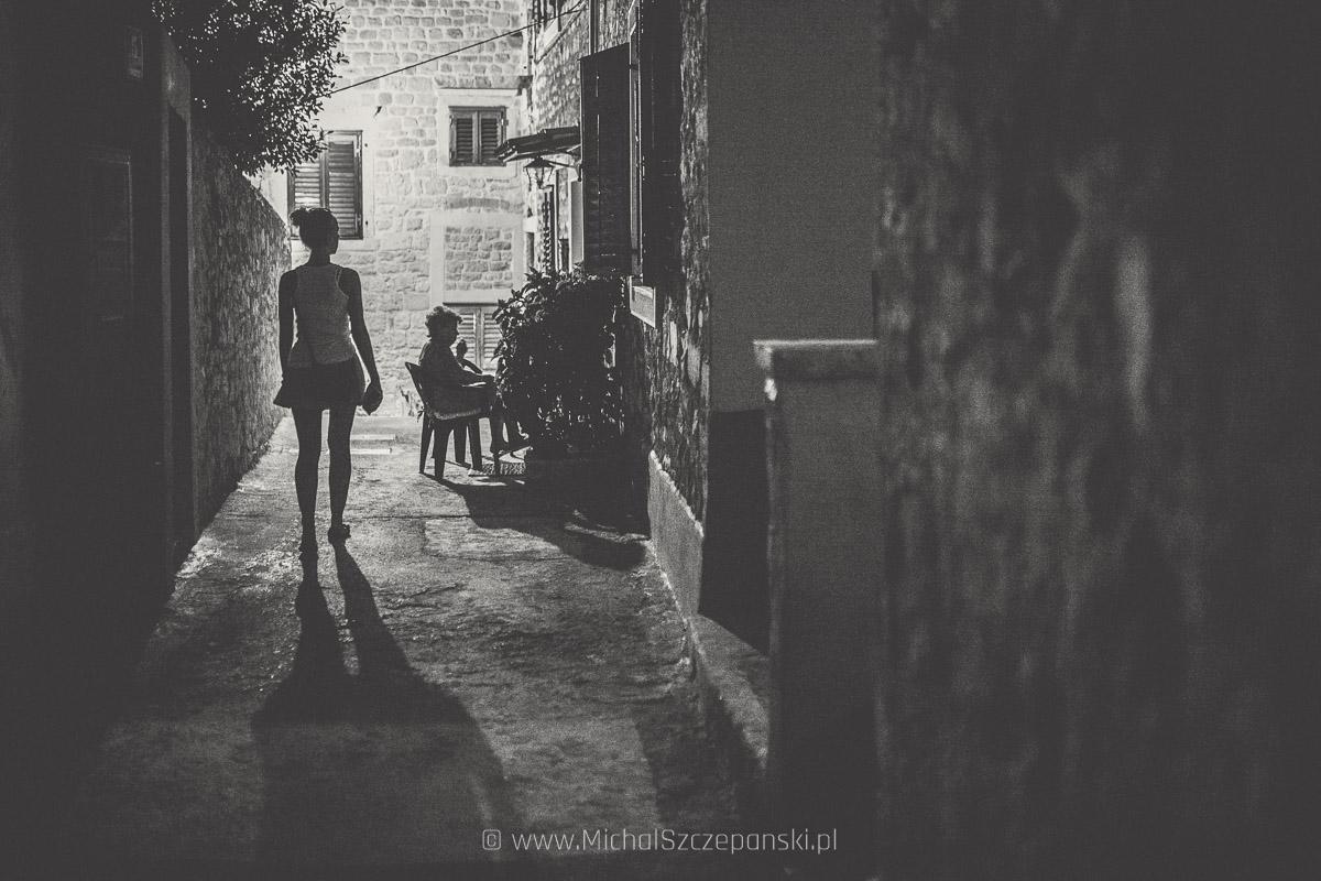 Szybenik nocą - starówka