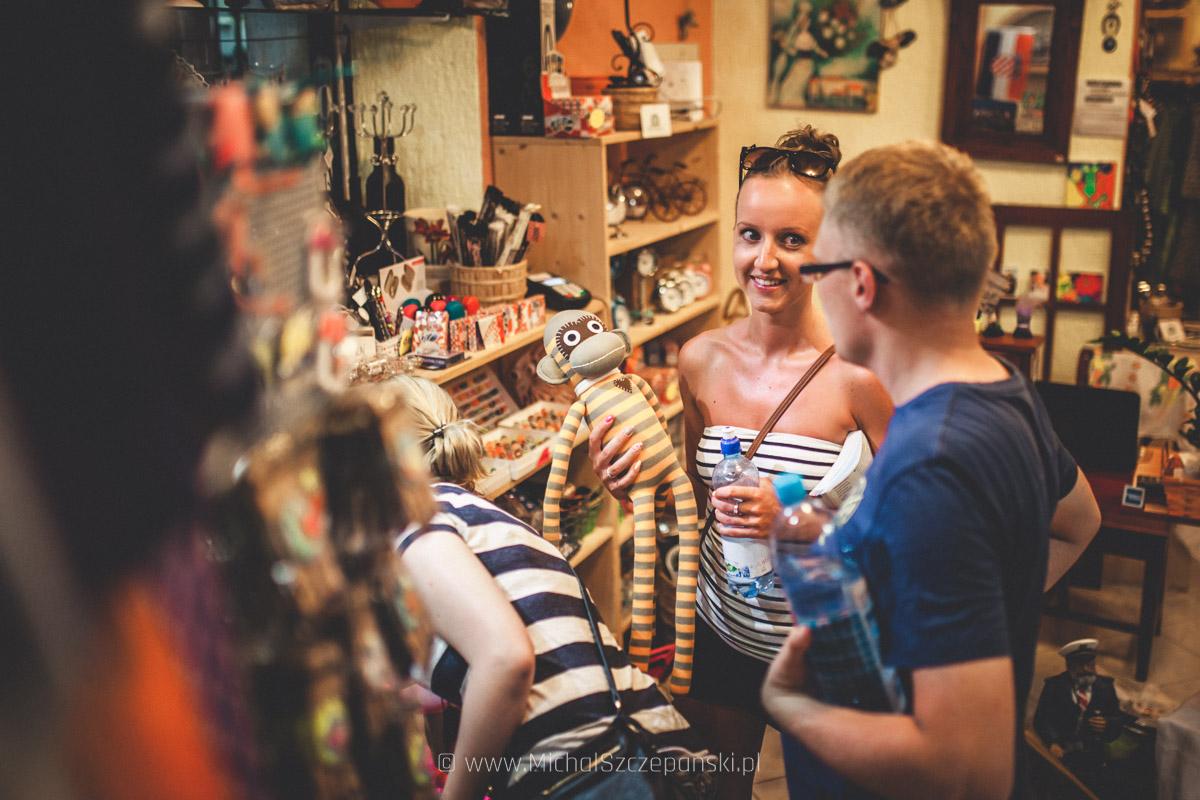 Trogir - starówka sklep z suwenirami
