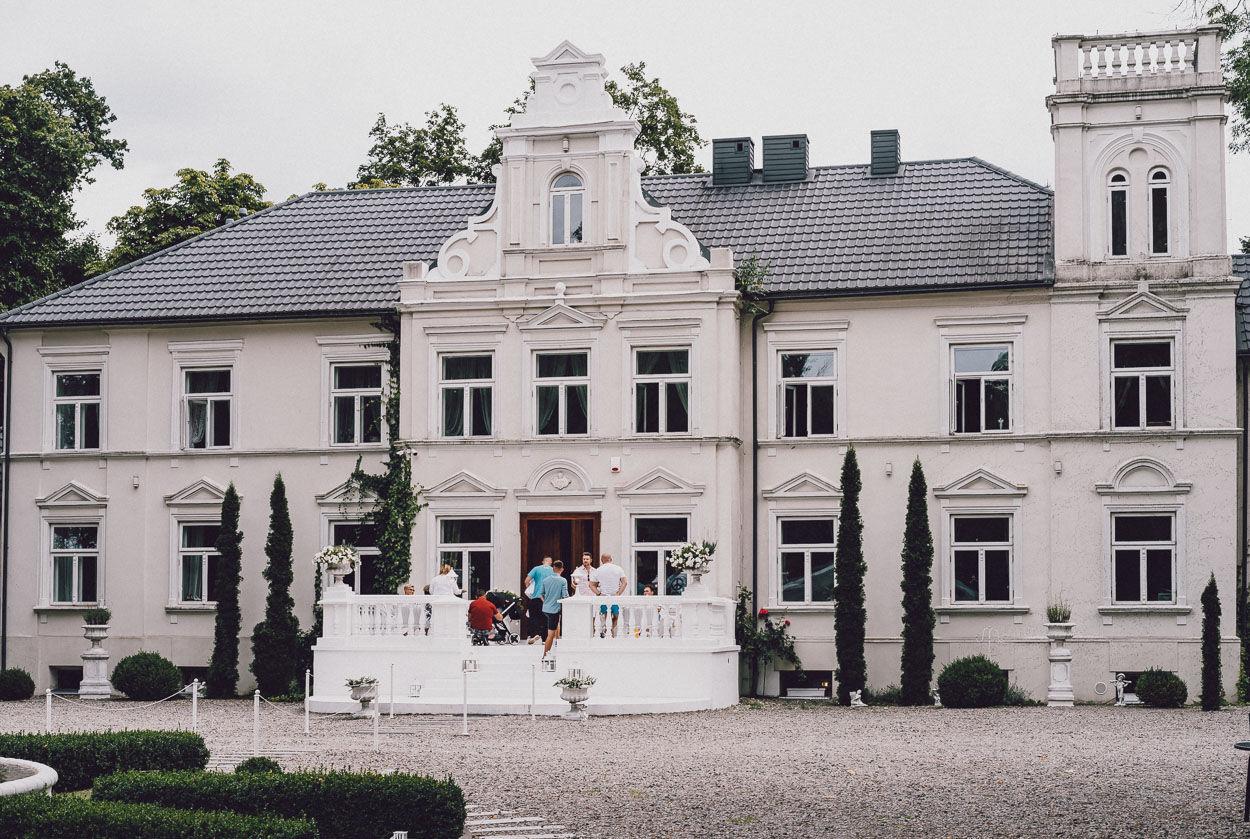 Pałac Pstrokonie - widok od frontu