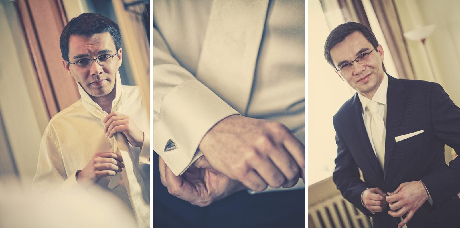 Piękny ślub w Wieruszowie przygotowania Pana Młodego