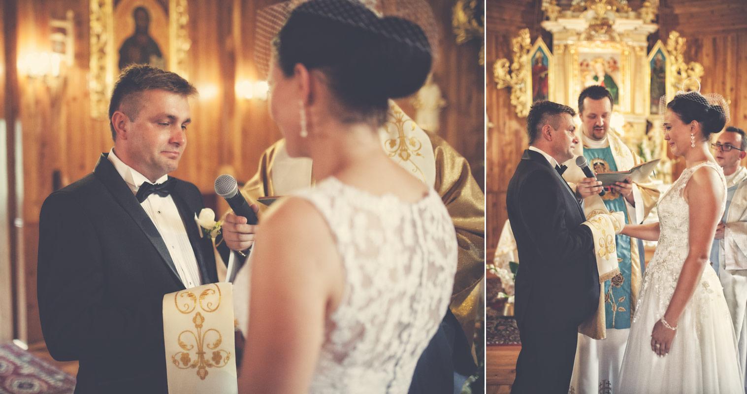 Wesele w Baranowskiej Chacie - przysięga małżeńska Pana Młodego