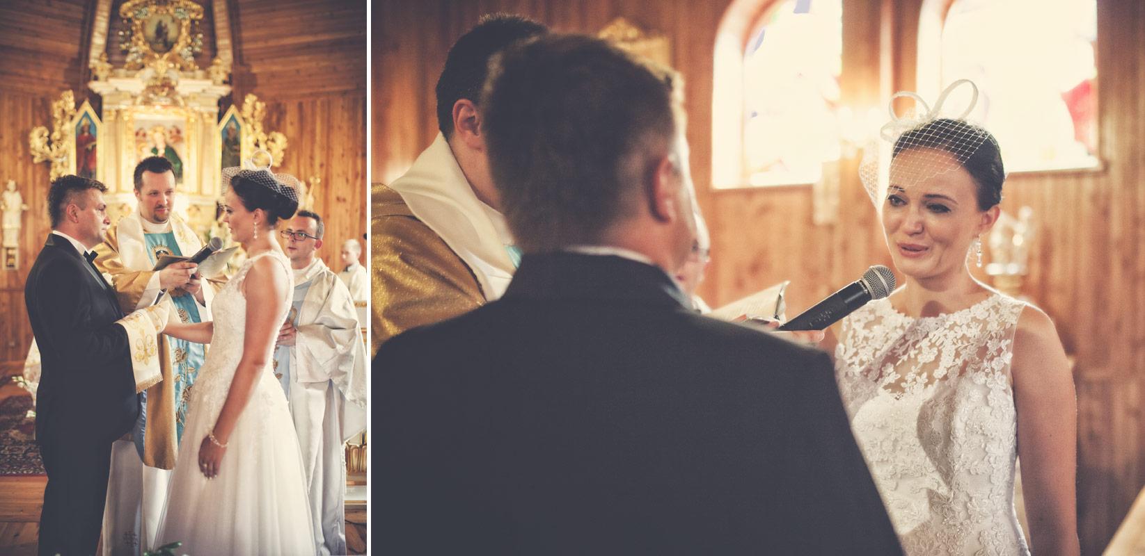Wesele w Baranowskiej Chacie - przysięga małżeńska