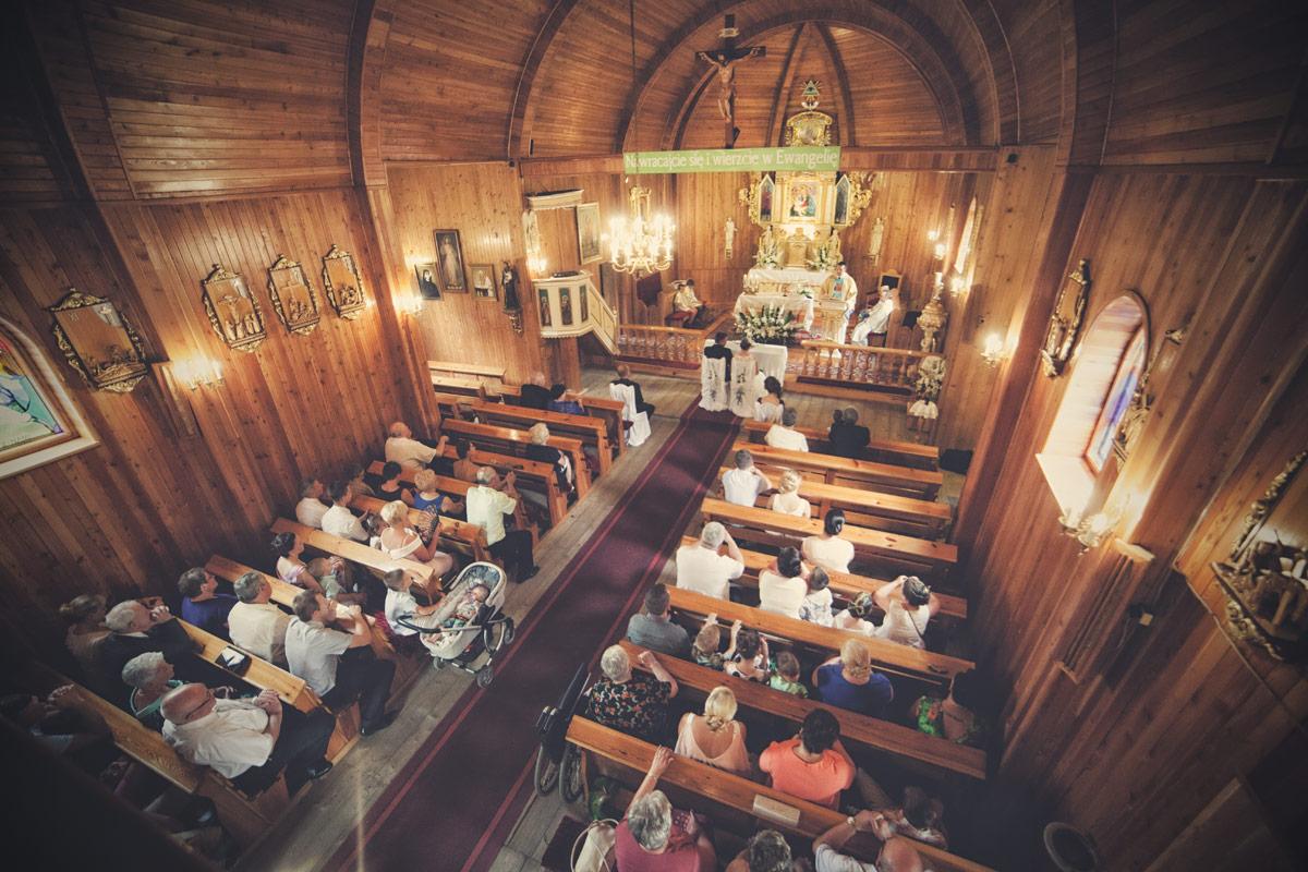 Wesele w Baranowskiej Chacie - ślub w Donaborowie
