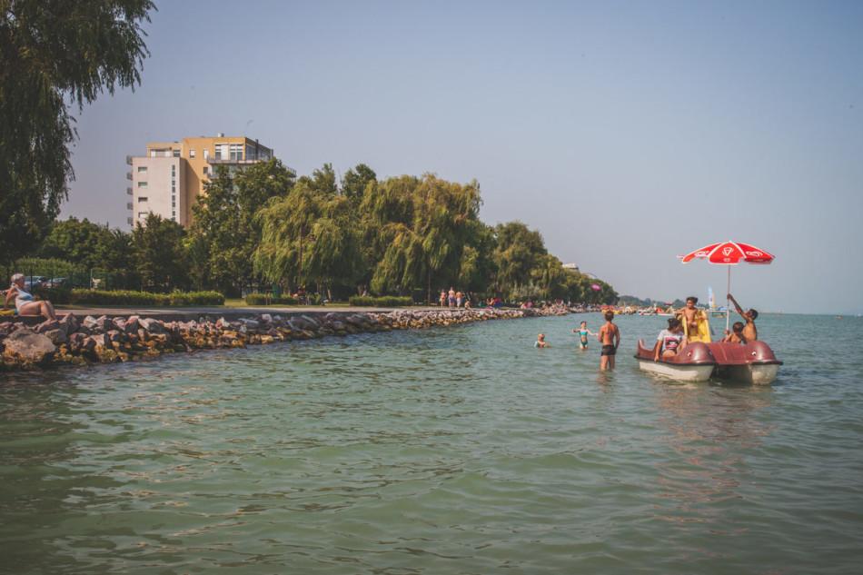 Jezioro Balaton - płytka woda