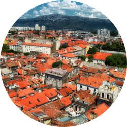Split - widok na miasto z wieży
