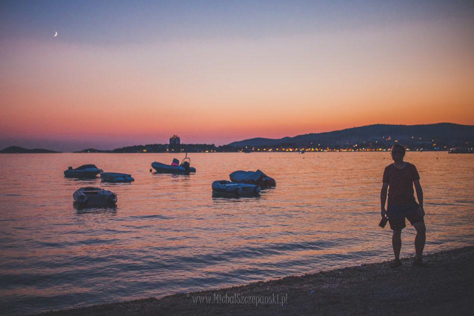 Wakacje w Chorwacji zachód słońca