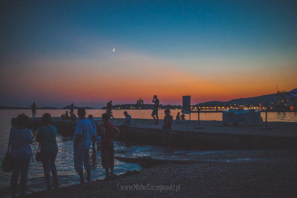 Wakacje w Chorwacji zachód słońca wybrzeże