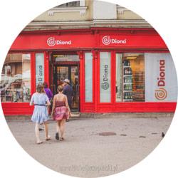 Wakacje w Chorwacji Zagrzeb witryna sklepowa Diona