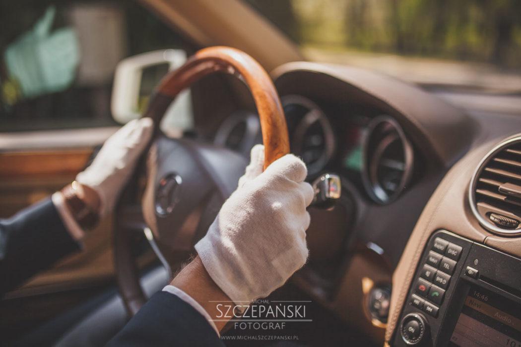 kierownica merceseda gl szofer i rękawiczki