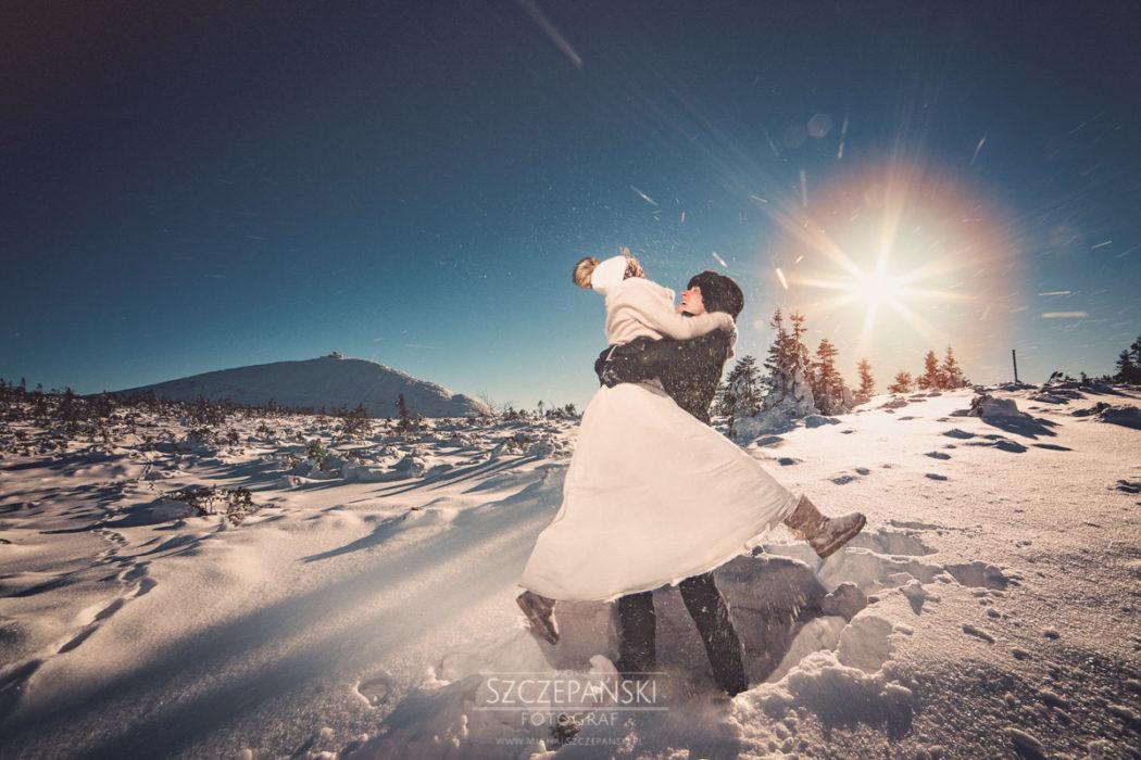 Sesja ślubna - góra Kopa