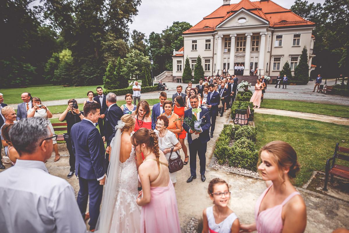 Pałac Tłokinia - wesele - życzenia